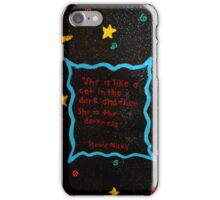 Black cat in the darkness. iPhone Case/Skin