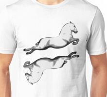 Two Lipanzanna Stallions in Capriole (Black and White) Unisex T-Shirt