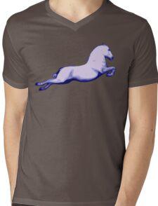 Lipanzanna Stallion in Capriole Blue Mens V-Neck T-Shirt