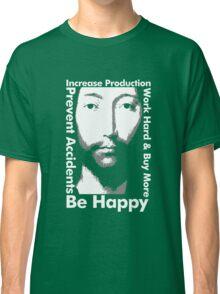 OMM 0000 THX -1138 Be Happy Classic T-Shirt