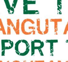 Save the Orangutans Sticker