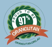 Proud to be 97% Orangutan Kids Clothes
