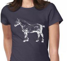 Percheron Stallion White Womens Fitted T-Shirt