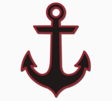 Nautical Anchor (Boat Anchor) - Black Red by sitnica