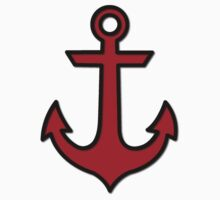 Nautical Anchor (Boat Anchor) - Black, Red by sitnica