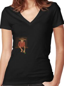 Some Buddy Women's Fitted V-Neck T-Shirt