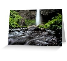 Oregon Waterfall Greeting Card