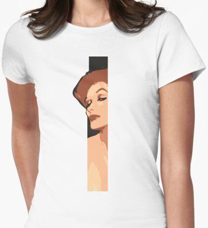 Rene Gruau Strip Womens Fitted T-Shirt