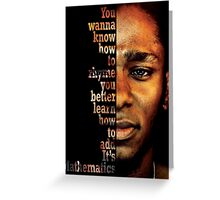 Mos Def Mathematics Greeting Card