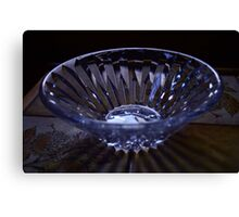 Blue Shadow Bowl Canvas Print