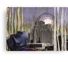Through Ragged Curtains Canvas Print