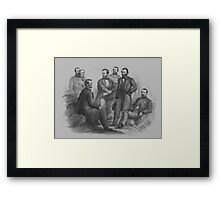 President Lincoln and His Commanders Framed Print