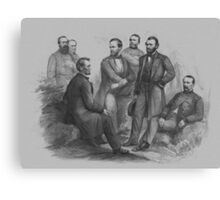 President Lincoln and His Commanders Canvas Print