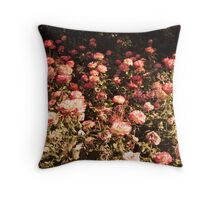 roses disappearing Throw Pillow