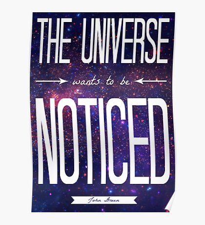 TFiOS: The Universe Wants to be Noticed Poster