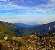 Valley High Up In The Andes Of Ecuador by Al Bourassa
