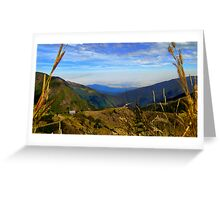 Valley High Up In The Andes Of Ecuador Greeting Card