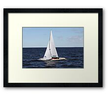 sailing race Framed Print