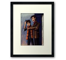Time's Heroes Framed Print