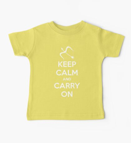 Keep Calm and Carry On (Marksman) Baby Tee