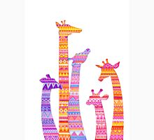 Giraffe Silhouettes in Colorful Tribal Print Classic T-Shirt