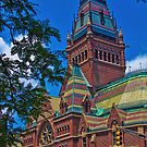USA. Massachusetts. Cambridge. Harvard University. Memorial Hall. by vadim19