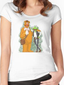 han the frog and fozzy the wookie Women's Fitted Scoop T-Shirt