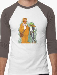 han the frog and fozzy the wookie Men's Baseball ¾ T-Shirt