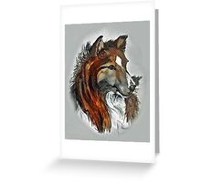 Two Tone Sheltie - Watercolor Greeting Card