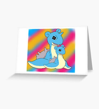 Lapras Family Greeting Card