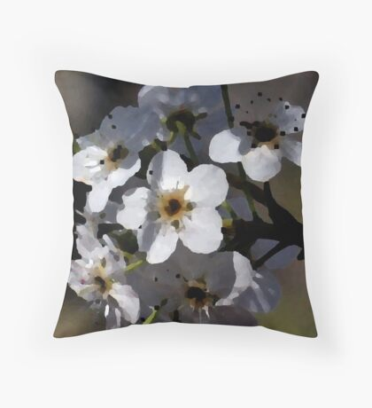 Artistic Blossoms Throw Pillow
