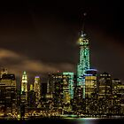 Downtown Manhattan At Night by Chris Lord