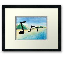 Outer Banks Notes Framed Print