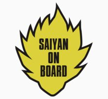 Saiyan On Board (Car) by worldcollider