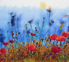 Summer Poppy Field by Paula Belle Flores