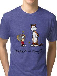 Dovahkiin and Khajiit Tri-blend T-Shirt