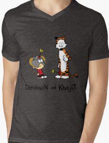 Dovahkiin and Khajiit Mens V-Neck T-Shirt
