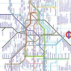 London Underground Map by Crystal Friedman