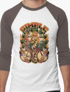 Simple Fixed Gear 01 Men's Baseball ¾ T-Shirt