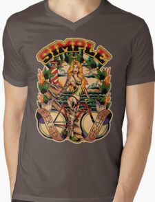 Simple Fixed Gear 01 Mens V-Neck T-Shirt