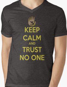 Keep Calm and Trust No One!!! Mens V-Neck T-Shirt