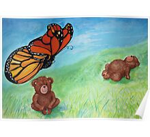 Butterfly Teddy Poster