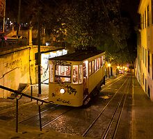 Lisbon Gloria Funicular Night Shot by kirilart