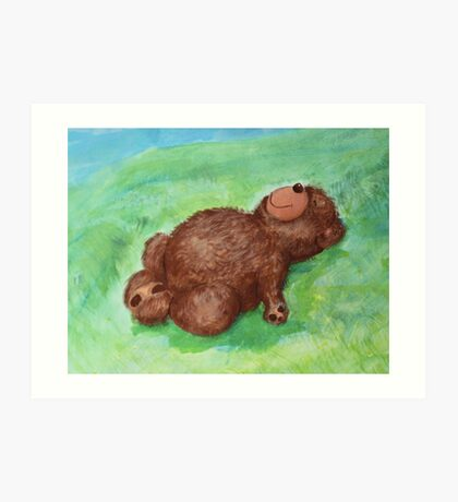 Resting Butterfly with Teddy Art Print