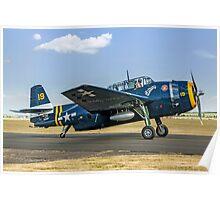 Eastern TBM-3R Avenger 53319 HB-RDG Poster