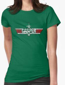 Custom Top Gun Style - Casper Womens Fitted T-Shirt