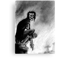 Gothic Gargoyle Perch Canvas Print