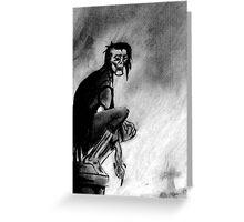 Gothic Gargoyle Perch Greeting Card