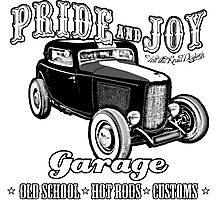 Pride and Joy Hot Rod Garage Photographic Print