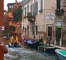 Rainy Day in Venice by MariarosaR
